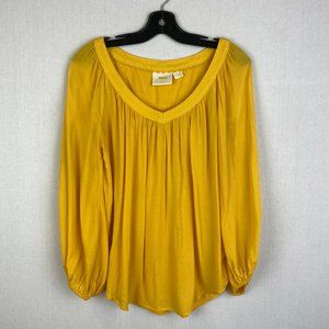ANTHROPOLOGIE MAEVE Yellow Blouse
